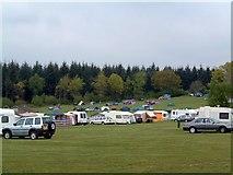 SO5513 : Bracelands Camp-site by Barrie Jenkins