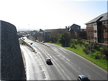 SH4862 : The flyover from the northern footbridge by Eric Jones