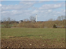 SP4816 : Fields, view  to Shipton on Cherwell cement works by David Hawgood