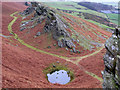 SD1186 : Littlefell Crags with tiny tarn. by Andrew Woodhall