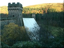 SK1789 : Derwent Dam - West and East Tower by John Fielding