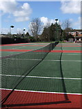 SX9392 : Victoria Park Tennis Club by Derek Harper