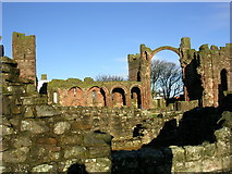 NU1241 : The Priory on Holy Island by Mel Evans