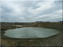 SP6482 : Sand Pit Lake. by Richard Williams