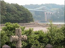 SH5571 : Menai bridge from Church Island by Matty Pearce