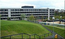 NS7465 : Monklands Hospital from the residences by Elliott Simpson