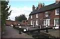 SO9199 : Wolverhampton Top Lock and BCN  Cottages by Roger  Kidd