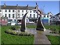 "H2684 : ""Star Fields"" sculpture, Castlederg by Kenneth  Allen"