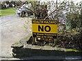 ST1593 : Protest sign, Twyn Shon-Ifan by Roger Cornfoot