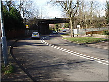 SP1297 : Railway bridge over Tamworth Road, A453 by Pat Gumbley