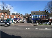 TL1314 : From High Street into Vaughan Road, Harpenden by John Salmon