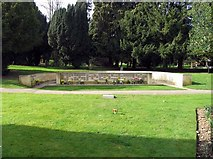 TL1314 : Churchyard at St Nicholas, Harpenden - Memorial garden by John Salmon