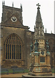 ST6316 : Memorial outside Sherborne Abbey by Jerry Evans