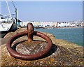 SX8960 : Iron Ring Paignton harbour wall, Esplanade behind by Tom Jolliffe