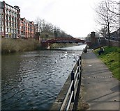 SK5803 : Grand Union Canal 'Mile Straight' in Leicester. by Mat Fascione
