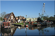 SP0272 : Alvechurch Boat Centre, The Worcester & Birmingham Canal. by Peter Wasp