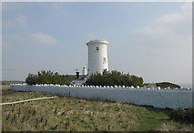 SS9168 : Old Lighthouse at Nash Point by Peter Wasp