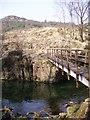 SD2398 : Footbridge, Troutal by Michael Graham