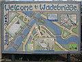 SW9972 : Wadebridge mosaic by Phil Williams