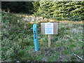 NR7632 : Kintyre Way Walk sign post and directions. by Johnny Durnan