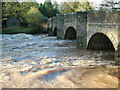 SO4073 : River Teme bridge, Leintwardine by Peter Evans