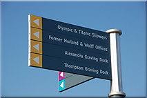 "J3474 : ""Titanic"" sign, Belfast by Albert Bridge"