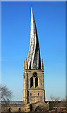 SK3871 : Parish Church of St Mary and All Saints, Chesterfield by Peter Tarleton