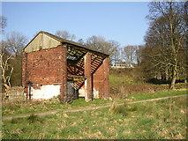 SE1039 : Derelict building near the five-rise locks, Bingley by Humphrey Bolton
