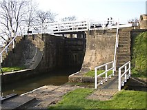 SE1039 : Detail of the five-rise locks, Bingley by Humphrey Bolton