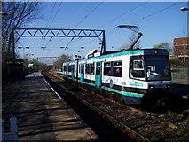 SJ8195 : Old Trafford Tram Station by R Greenhalgh