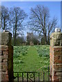 SE7038 : Aughton Church from the gateway into Aughton Hall by stuart hartley