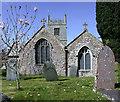 SW8661 : Saint Colan Church, Springtime. by Geoff Welding