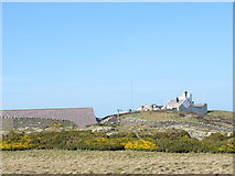 SH4793 : Trwyn Eilian (Point Lynas ) Lighthouse viewed from behind the Pilot House by Eric Jones