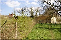 TQ6127 : House and buildings of Rolf's Farm by Nikki Mahadevan