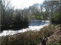 SJ8382 : Weir on River Bollin near Styal by Sue Adair