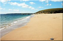 SW6424 : Loe Bar Beach looking NW by M Etherington