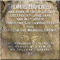 SY7292 : Inscription on the Thomas Hardy monument by Jim Champion