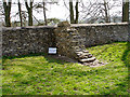 ST7475 : Dry stone wall, cross-section by Linda Bailey