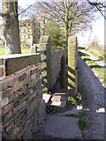 SE1223 : Stile into the driveway of Barker Royd, Southowram by Humphrey Bolton