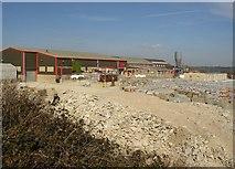 SE1223 : Precast concrete factory, Cromwell Quarries, Southowram by Humphrey Bolton