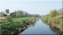 SE4843 : The River Wharfe at Tadcaster by John Wray