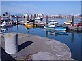 SH2582 : Holyhead Harbour and The Fish Dock by Brian Charlton