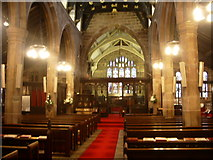 SJ8588 : Interior of St Mary's The parish Church of Cheadle. by Alexander P Kapp