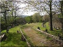 SE1223 : Cemetery, Church Lane, Southowram by Humphrey Bolton