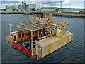 NZ4921 : Transporter bridge cradle by DS Pugh