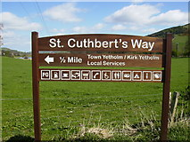 NT8127 : Information board on the St.Cuthbert's Way by Phil Catterall