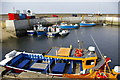 NU2232 : Passenger boats at North Sunderland Harbour, Seahouses by Phil Champion