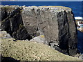 NC3771 : Cliff at the western end of Faraid Head by Roger McLachlan