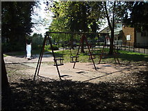 TQ1979 : Small children's playground and cafe, Gunnersbury Park by Alice H Myers