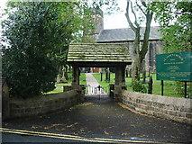 SD8237 : Lychgate, St Anne's Church, Fence by Alexander P Kapp